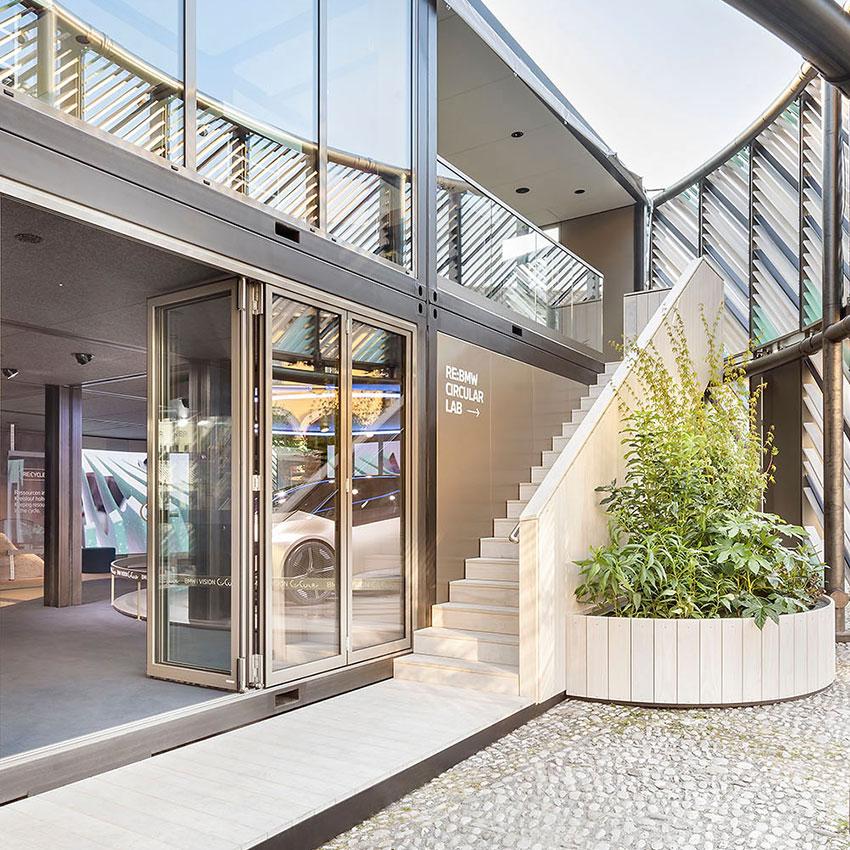 Booth Builder Messebauer Stand Builder Winkels für BMW auf der IAA Mobility 2021 Open Space